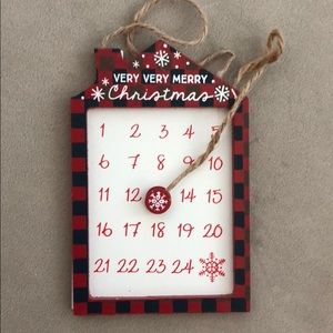 Other - Christmas countdown magnetic calendar ornament